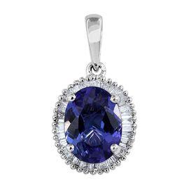 RHAPSODY 950 Platinum AAAA Tanzanite (Ovl 1.75 Ct), Diamond Pendant 2.000 Ct.