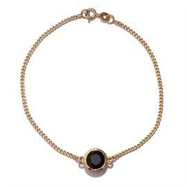 Boi Ploi Black Spinel (Rnd) Bracelet (Size 7.5) in 14K Gold Overlay Sterling Silver 2.000 Ct.