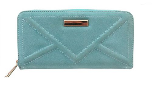 Stella Summer Topaz Textured Suede Look Long Wallet (Size 19x10 Cm)