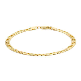 Close Out Deal 9K Yellow Gold Flat Curb Chain Bracelet (Size 7.5), Gold wt 4.90 Gms.