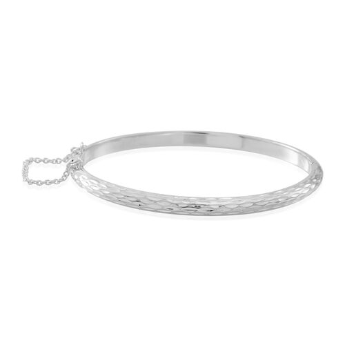 Thai Sterling Silver Bangle (Size 8), Silver wt 10.00 Gms.