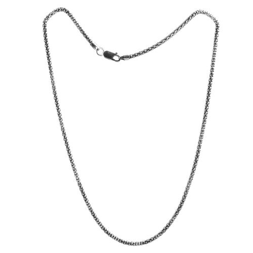 Close Out Deal Sterling Silver Popcorn Oxidized Chain (Size 20), Silver wt 9.80 Gms.