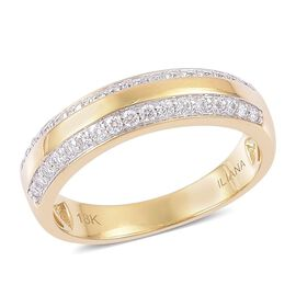 ILIANA 18K Yellow Gold IGI Certified 0.50 Carat Diamond Band Ring SI G-H