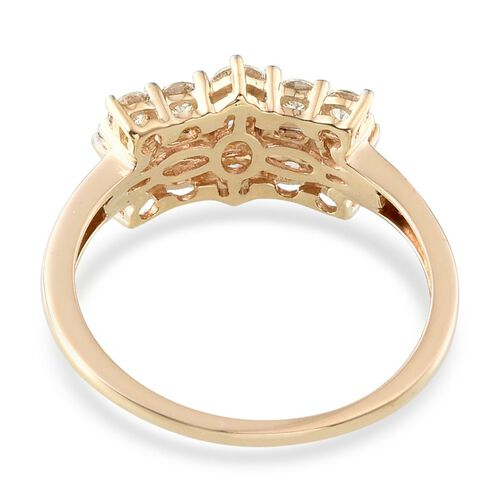 9K Y Gold (Rnd) Ring Made with SWAROVSKI ZIRCONIA 1.060 Ct.