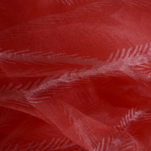 100% Mulberry Silk Pink and Red Colour Scarf (Size 180x50 Cm)