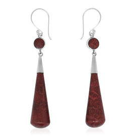 Royal Bali Collection Sponge Coral Hook Earrings in Sterling Silver 24.000 Ct.