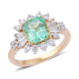 14K Y Gold Boyaca Colombian Emerald (Oct 1.50 Ct), Diamond Ring 2.330 Ct.