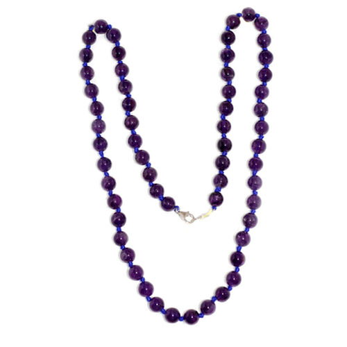 Amethyst (Rnd) Necklace (Size 24) in Sterling Silver 180.950 Ct.