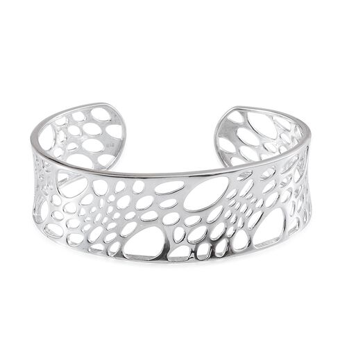 Cuff Bangle (Size 7.5) in ION Plated Platinum Bond