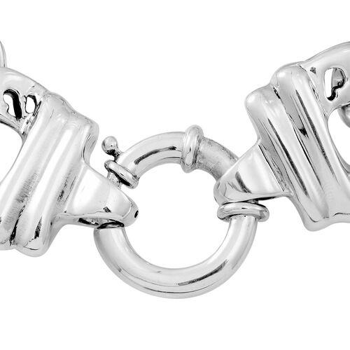 Designer Inspired Chunky Sterling Silver Bracelet (Size 8), Silver wt 31.66 Gms.