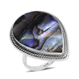Royal Bali Collection Abalone Shell (Pear) Ring in Sterling Silver 6.000 Ct.