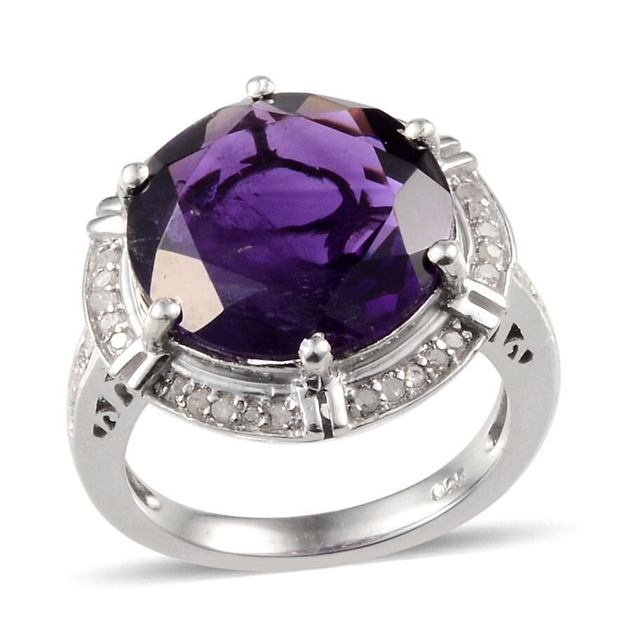 lusaka amethyst rnd ct diamond ring in platinum. Black Bedroom Furniture Sets. Home Design Ideas