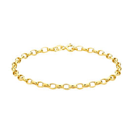 Close Out Deal 9K Yellow Gold Belcher Chain Bracelet (Size 7.5)