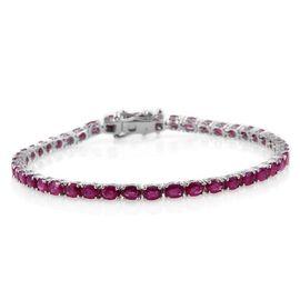 9K W Gold AAA Burmese Ruby (Ovl) Tennis Bracelet (Size 7.5) 9.250 Ct.