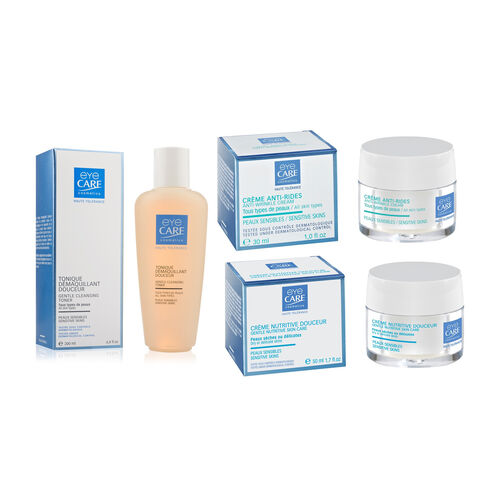 Eyecare cosmetics- Gentle cleansing lotion, Gentle cleansing toner, Anti-wrinkle cream