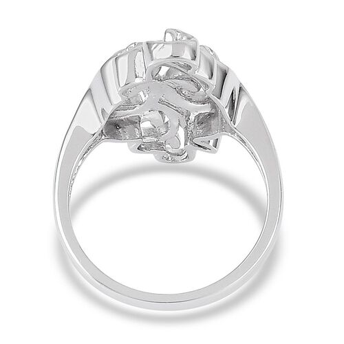 LucyQ Air Ring in Rhodium Plated Sterling Silver 7.06 Gms.