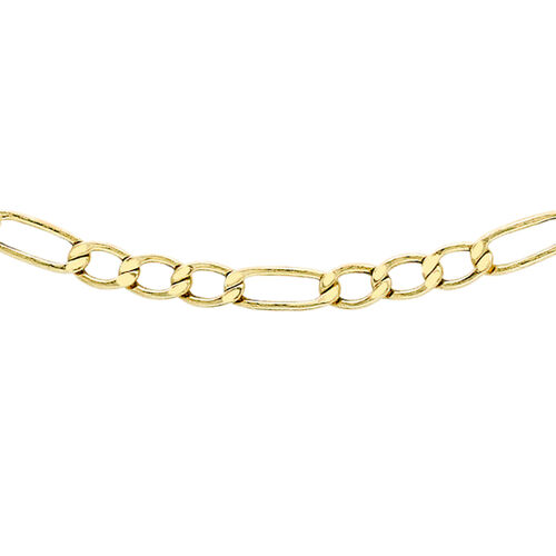 Close Out Deal ILIANA 18K Y Gold Diamond Cut Figaro Chain (Size 18), Gold wt 4.60 Gms.