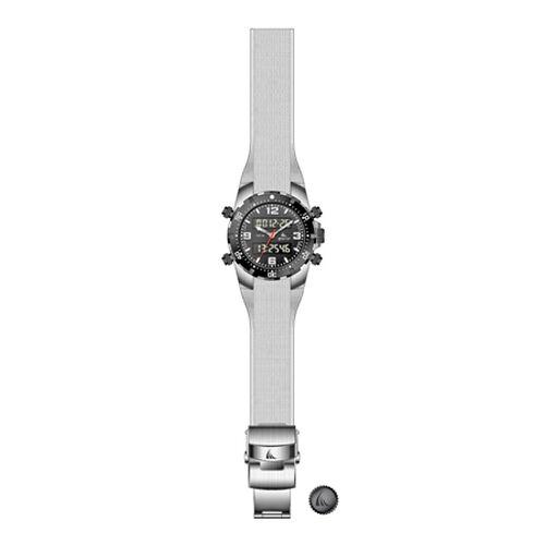 ZTSport DiveKing White - Illuminating 330FT Pressure Sealed Case, Silicone Strap Ana-Digi Sports Watch