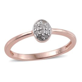 Diamond Stack Ring in Rose Overlay Sterling Silver