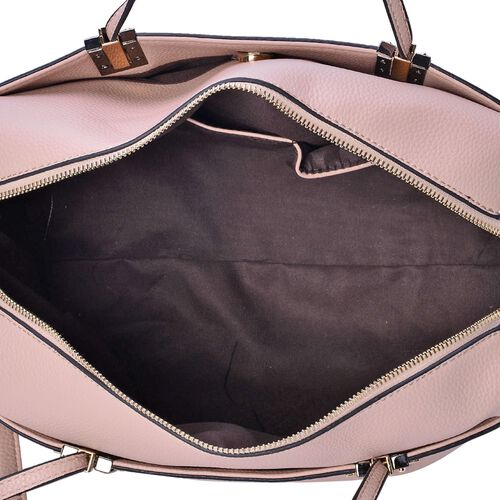 YUAN COLLECTION Dusk Pink Bag with Adjustable and Removable Shoulder Strap (Size 31x29x13 Cm)