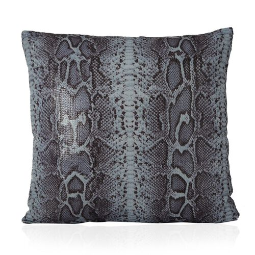 (Option 2) Multi Colour Snake Pattern Cushion (Size 43x43 Cm)