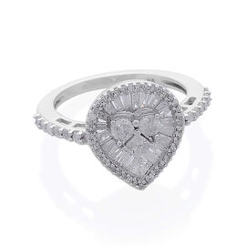 9K W Gold SGL Certified Diamond (Rnd) (I2/ G-H) Ring 0.989 Ct.