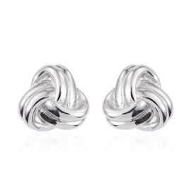 Platinum Overlay Sterling Silver Knot Cufflinks, Silver wt 9.00 Gms.