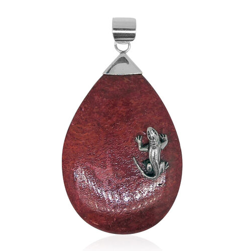 Royal Bali Collection Sponge Coral Lizard Pendant in Sterling Silver 25.000 Ct.