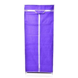 DOD - Purple Colour Foldable Wardrobe (Size 150x58x45 Cm)