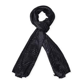 Designer Inspired Black Colour Scarf (Size 170x70 Cm)