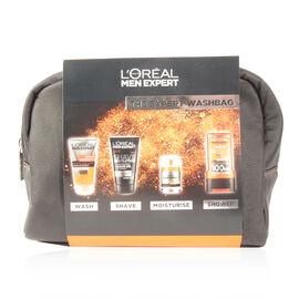 Loreal Men Expert - The Expert Wash Bag Gift Set - WAKE UP GEL 150ml SHAVE REVOLUTION 150ml ANTI-FATIGUE 50ml SHOWER GEL 300ml