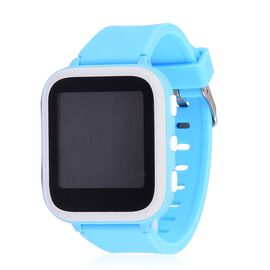 SMART Watch for Kids Supported by Free App. (with GPS Tracking, Callng, Texting, e- Fencing, Contact Book Features) - Colour Blue
