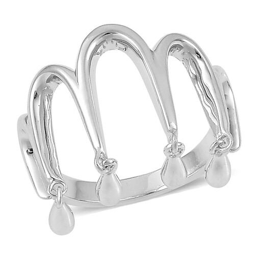 LucyQ Ring in Rhodium Plated Sterling Silver 3.98 Gms.