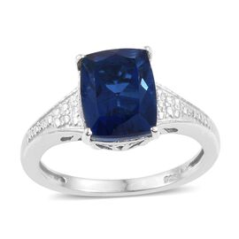 Ceylon Colour Quartz (Cush) Solitaire Ring in Platinum Overlay Sterling Silver 3.500 Ct.
