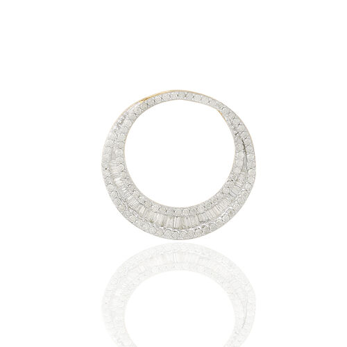 9K Y Gold SGL Certified Diamond (Bgt) (I3/G-H) Pendant 1.000 Ct.