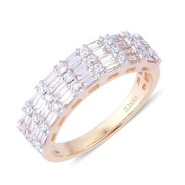 ILIANA 18K Y Gold IGI Certified Diamond (Bgt) (SI/ G-H) Ring 1.000 Ct.