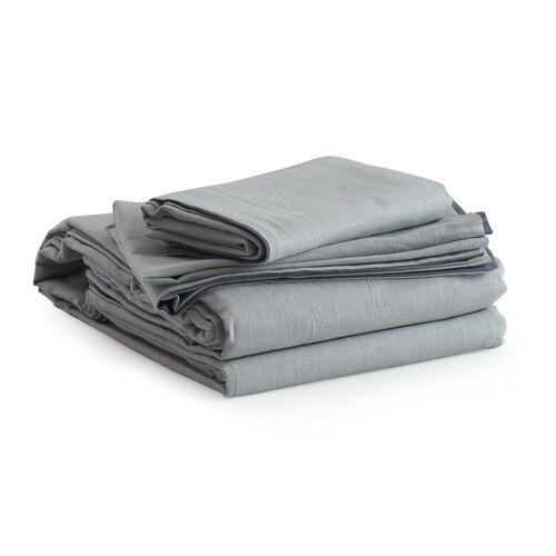 100% Cotton Blue Colour Duvet Cover (Size 200x200 Cm) and 2 Pillow Case (Size 75x50 Cm)