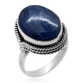 Royal Bali Collection Himalayan Kyanite (Ovl) Solitaire Ring in Sterling Silver 8.750 Ct.