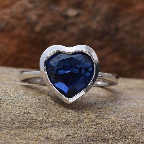 Ceylon Colour Quartz (Hrt) Solitaire Ring in Platinum Overlay Sterling Silver 3.500 Ct.