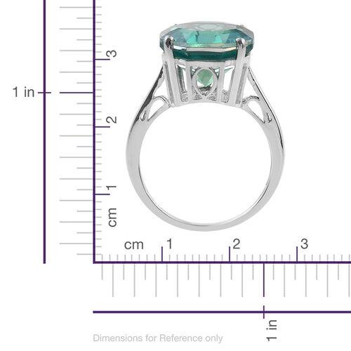 Peacock Triplet Quartz (10.00 Ct) Platinum Overlay Sterling Silver Ring  10.000  Ct.