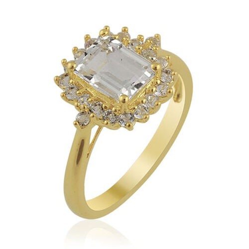 KARIS Collection - White Topaz Gold Bond Brass Ring  2.26 Ct.