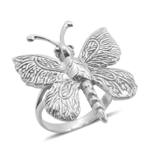 Royal Bali Collection Sterling Silver Butterfly Ring, Silver wt 6.00 Gms.