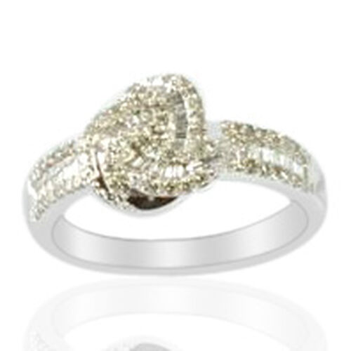 9K W Gold Diamond Ring  0.50 Ct.