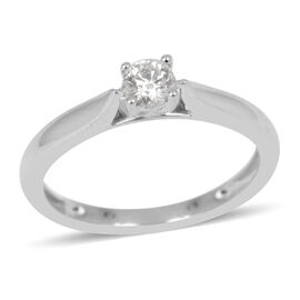 RHAPSODY 950 Platinum IGI Certified Diamond (Rnd) (VS/F) Solitaire Engagement Ring 0.250 Ct.