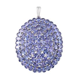 Limited Edition - 9K W Gold AA Tanzanite (Ovl) Cluster Pendant 16.250 Ct. (Gold Wt. 7.40 Gram)