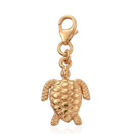 14K Gold Overlay Sterling Silver Goodluck Turtle Charm Silver wt. 2.16 Gms.