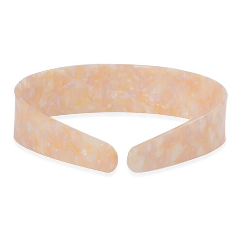 Cream Colour Hair Band with Resin and Simulated Puka Shell