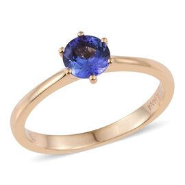ILIANA 18K Y Gold AAA Tanzanite (Rnd) Solitaire Ring 1.000 Ct.