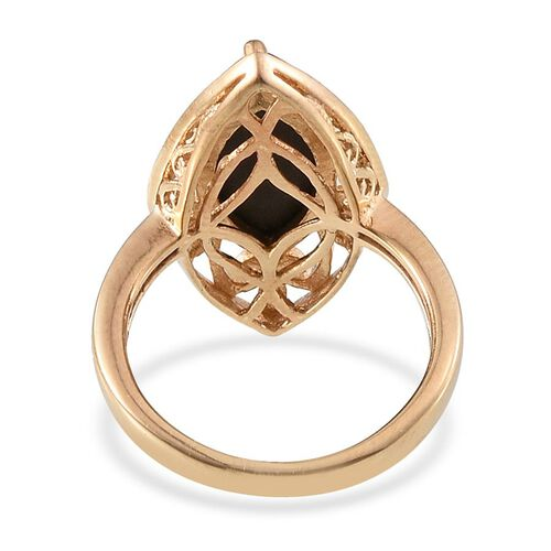 Goldenite (Mrq) Solitaire Ring in 14K Gold Overlay Sterling Silver 3.250 Ct.