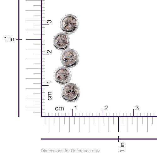 Marropino Morganite (Rnd) 5 Stone Pendant in Platinum Overlay Sterling Silver 1.500 Ct.